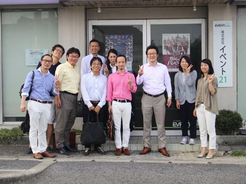 兵庫から7名の経営者仲間が会社訪問に来てくれました。採用プロセスは社員達で。