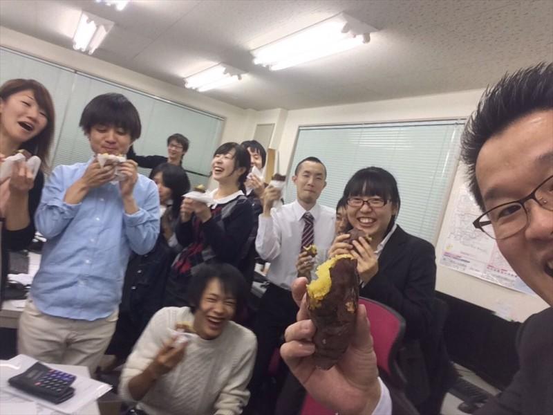 東京第二回内定式!と、おいもパーティ。