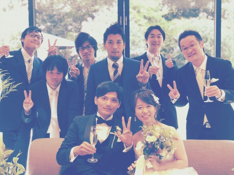 イベント21新卒第1号で入社9年目の社員Mくんの結婚式で主賓スピーチさせていただきました。