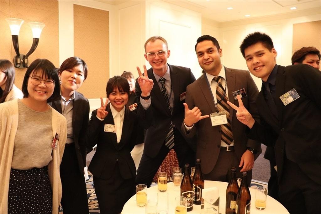 イベント21の外国人社員達