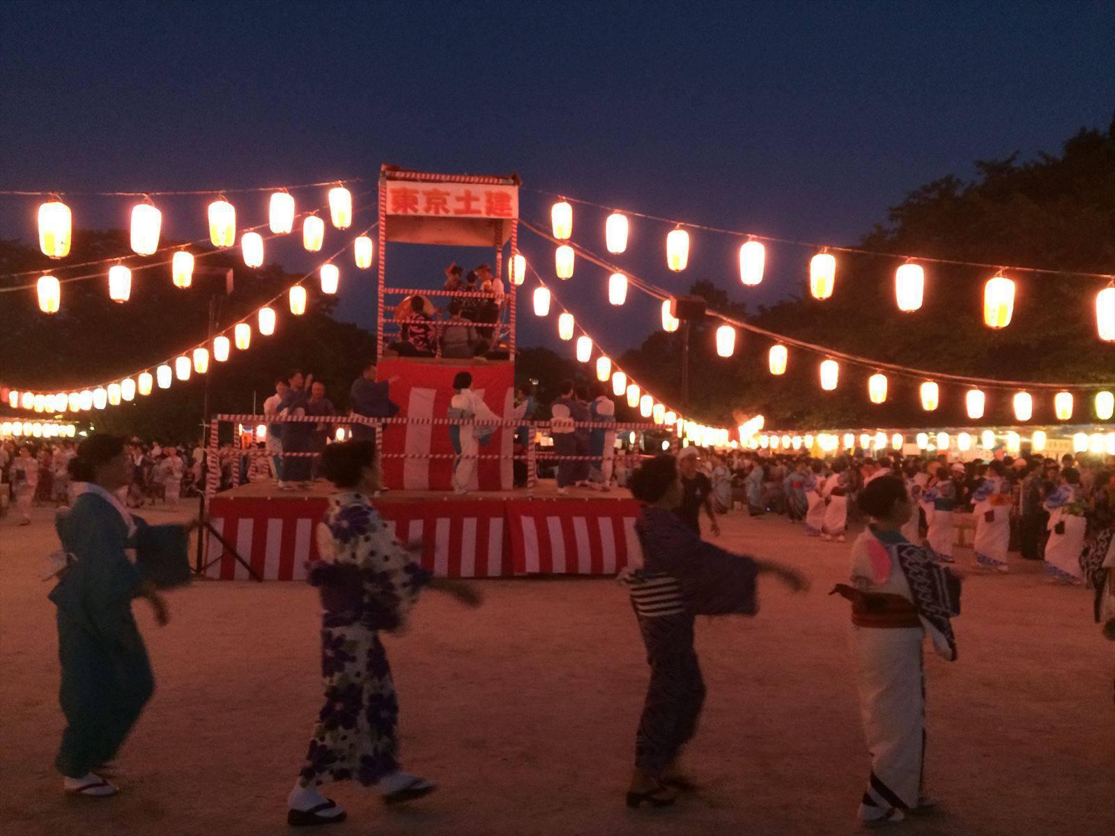 東京土建祭り 盆踊りの様子