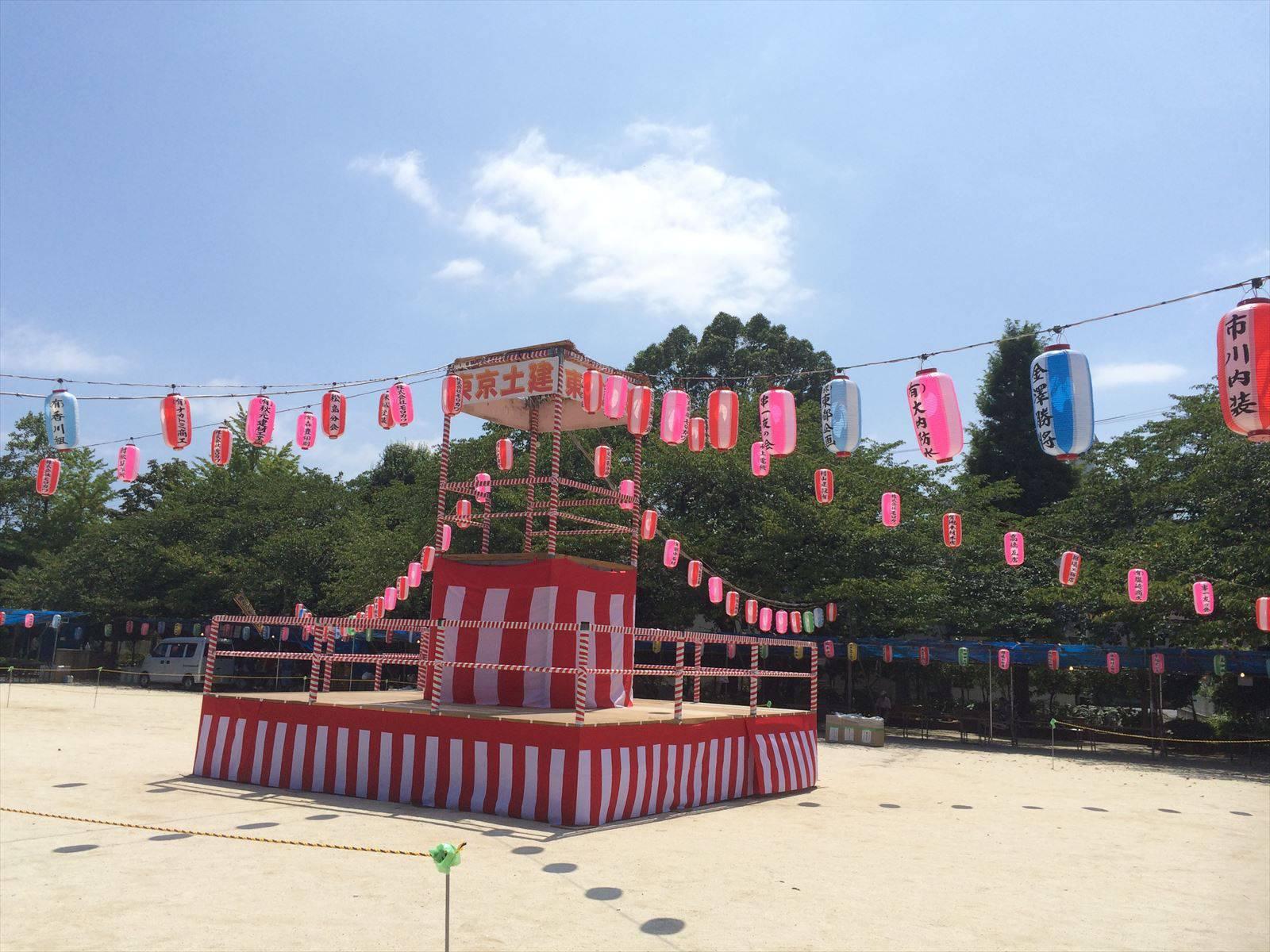 東京土建祭り 櫓の様子