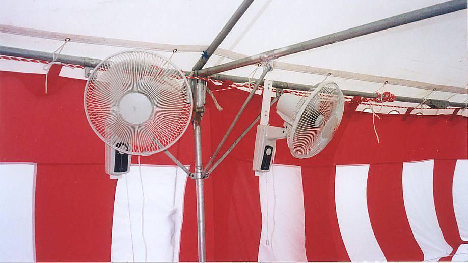 壁掛け扇風機レンタル