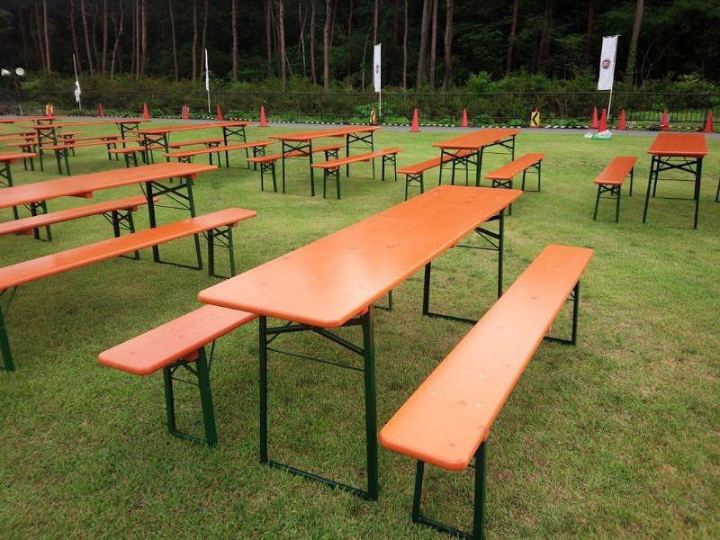 ビアテーブルセット 設置風景