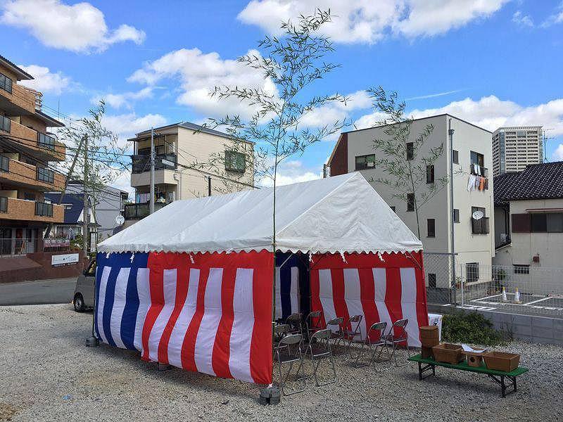 略式地鎮祭 テント